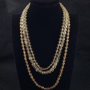 LOFT Jewelry - NWT! LOFT Statement Necklace 3 Strand Glass Beads